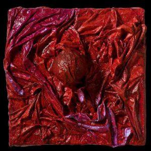 """Somber Hearts 2 Dark Matter Series acrilico e tecnica mista su tela 15 x 15"""""""