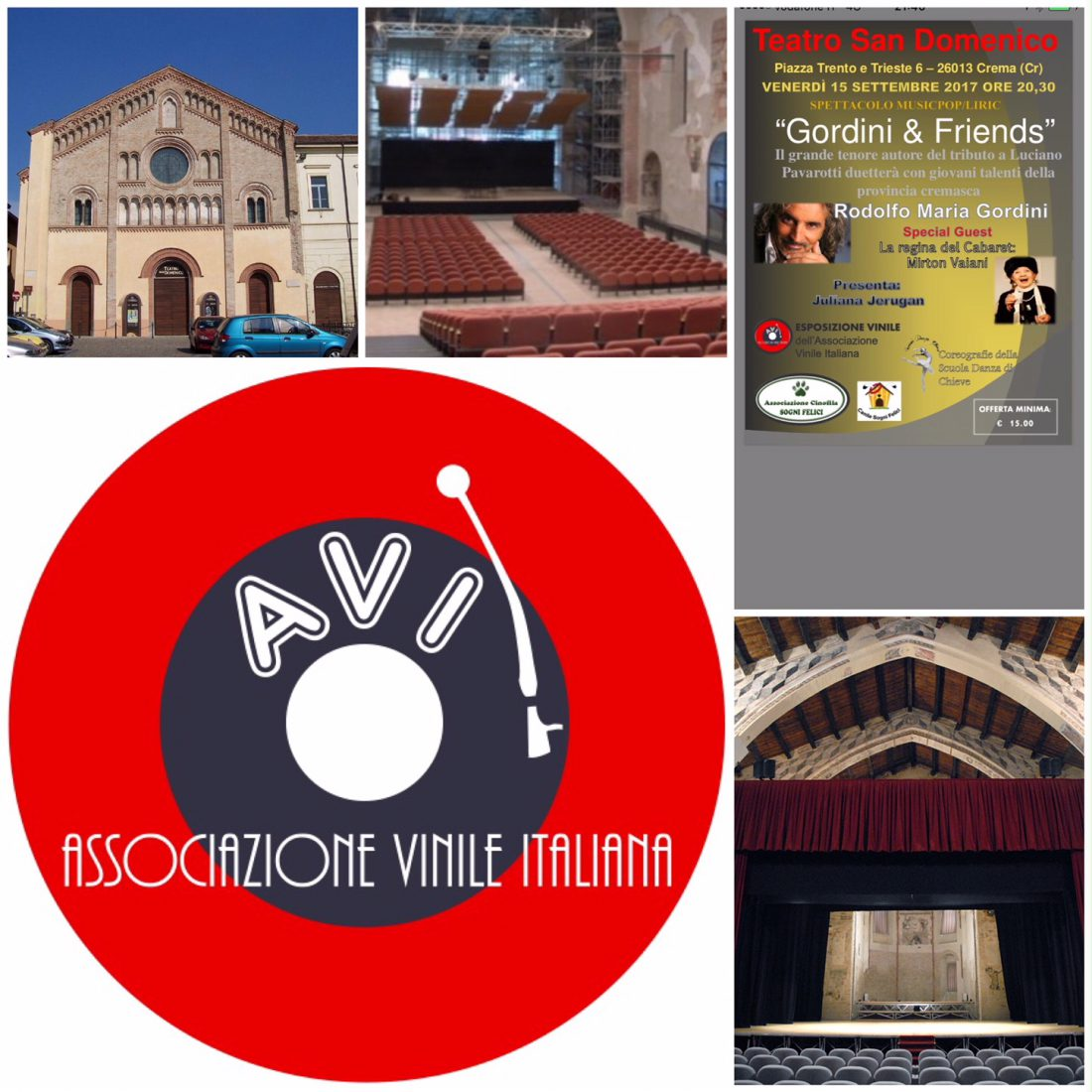 Gordini and friends al Teatro San Domenico - Associazione Vinile Italiana